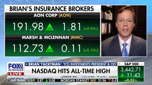 Brian Yacktman discusses Aon & Marsh McLennan on Fox Business Countdown Closer with Liz Claman
